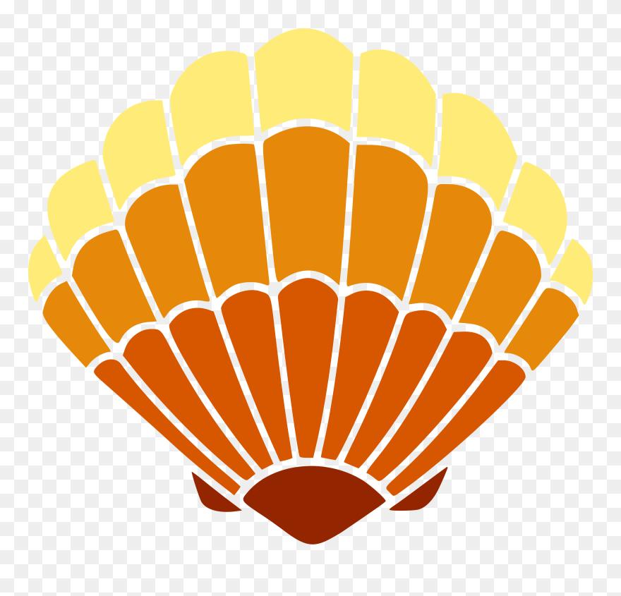 Seashell Encapsulated Postscript Autocad Dxf Drawing - Clam Shell