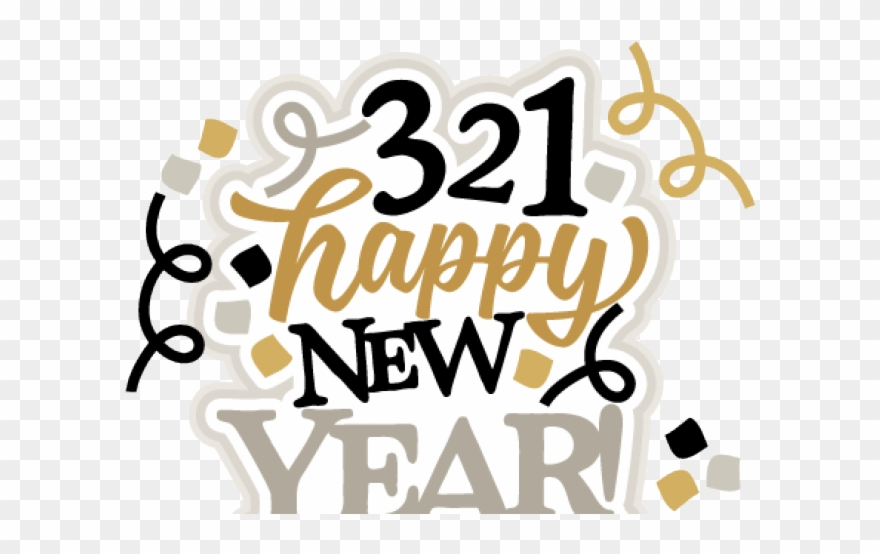 Happy New Year Clipart File - Happy New Year Title - Png Download