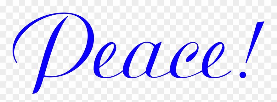 Clipart Peace Blue Microsoft Office 2010 Clip Art Clip - Png