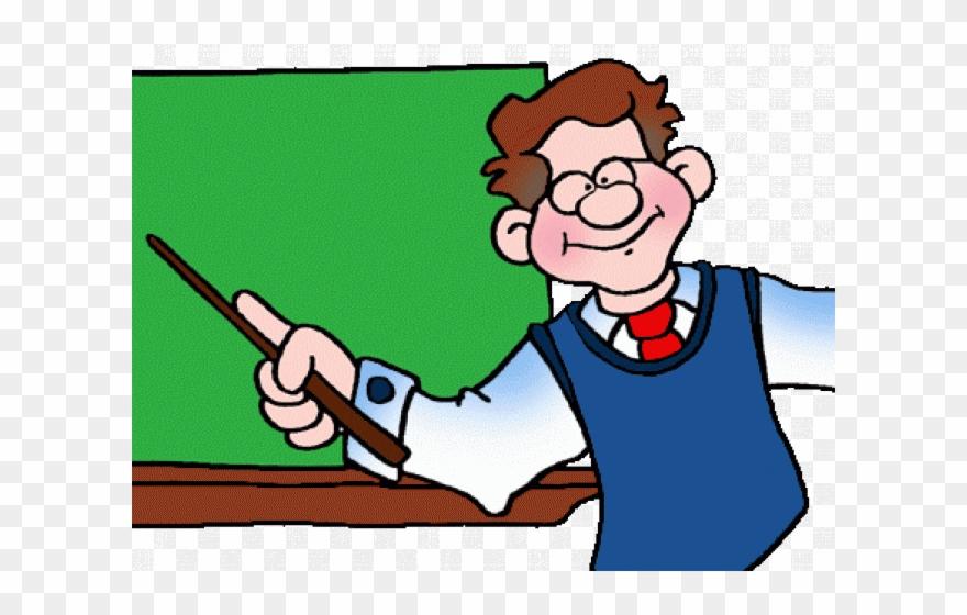 Teacher Clipart Teaching - English Medium School Clip Art - Png