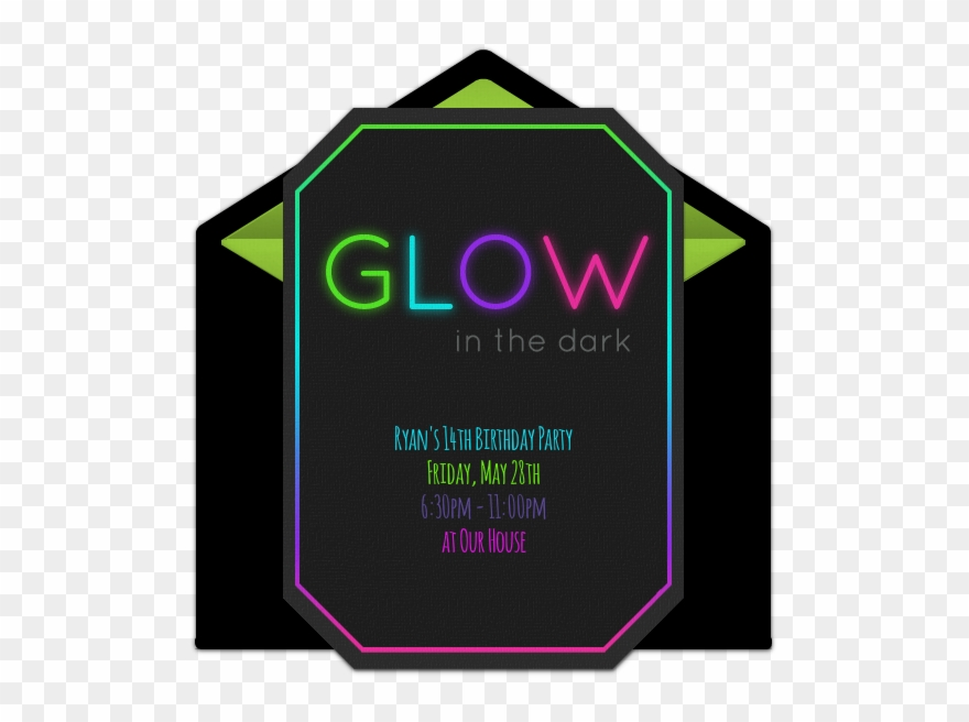 Free Glow In The Dark Online Invitation Clipart (#2258103) - PinClipart