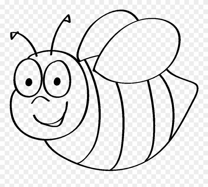 Bumble Bee Template Printable Clip Art Coloring Pages - Gambar