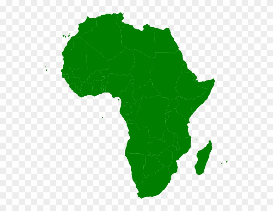 Montessori Africa Continent Map Clip Art - African Union - Png