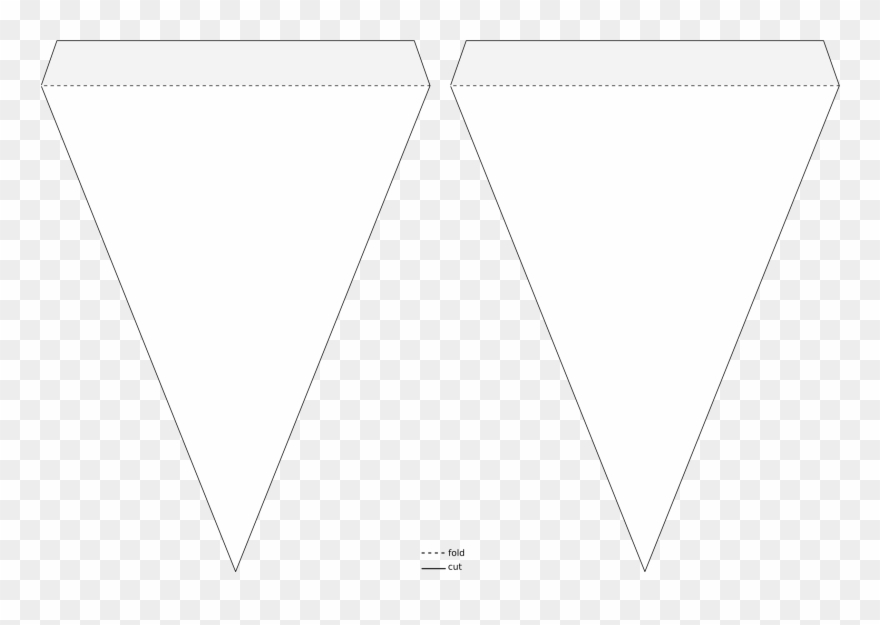 Triangle Pennant Banner Template Icons Png Free Png Clipart (#359026