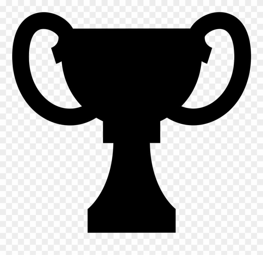 Black Of Trophy Cup - Award Clipart Black - Png Download (#3656530