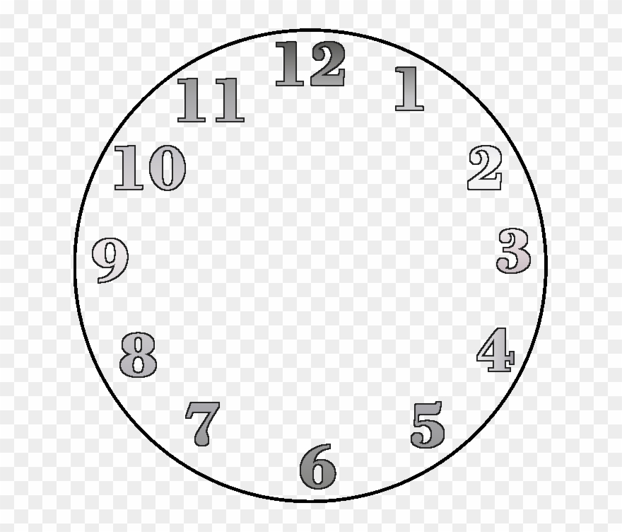 Clip Art Alarm Clock Face Digital Transprent - Clock Numbers