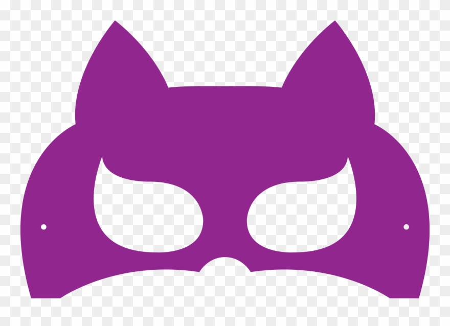 Purple Cat Mask Printable Clipart (#817889) - PinClipart