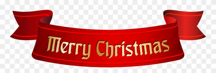 Merry Christmas Banner Transparent Clipart (#93792) - PinClipart