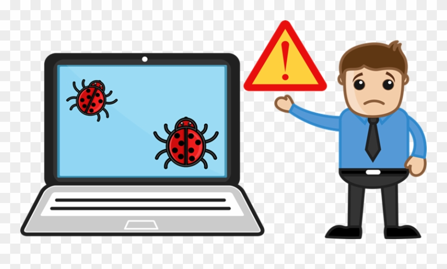 Cliparts Computer Viruses - Computer Affected By Virus - Png