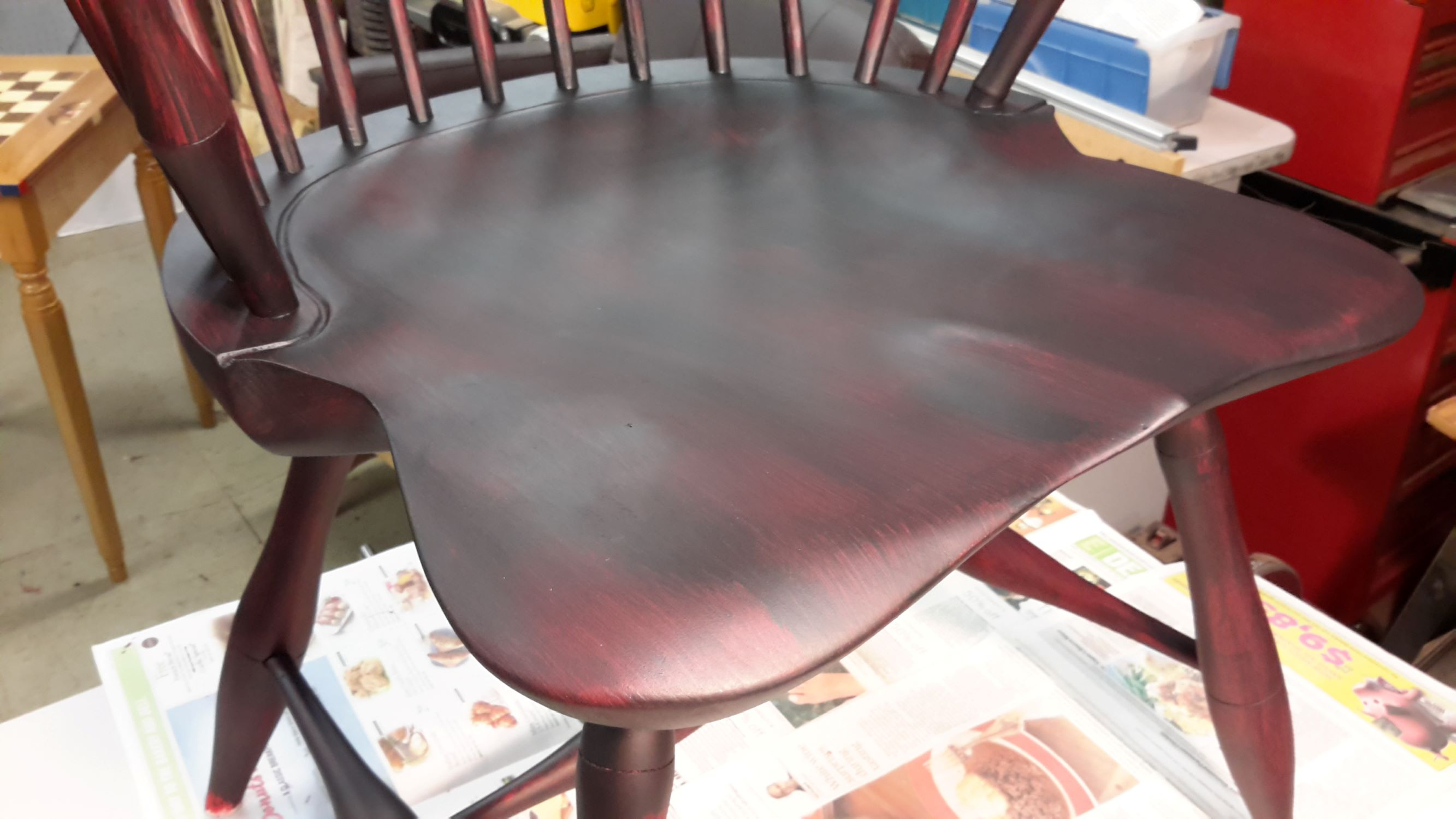 Windsor Chair Project Completing The Paint Pineknot