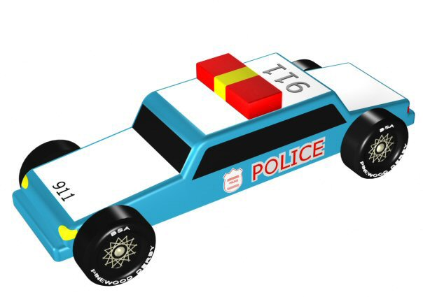 Pinewood Derby Police Car Design Plan - pinewood derby template