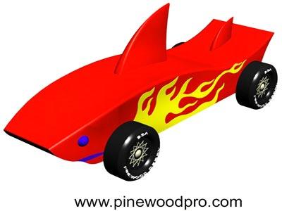 Pinewood Derby Car Design - Shark - pinewood derby template