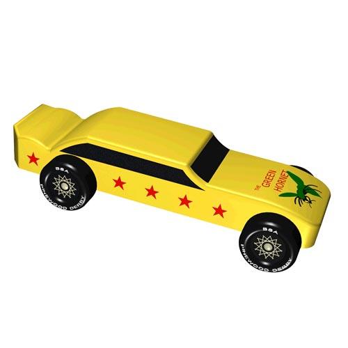 Pinewood Derby Car Design Plan - Green Hornet