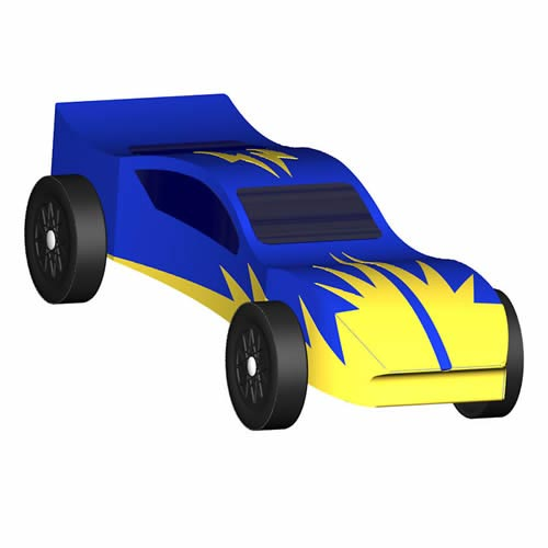 Flash - pinewood derby 3D Design Plan - INSTANT DOWNLOAD! - pinewood derby template