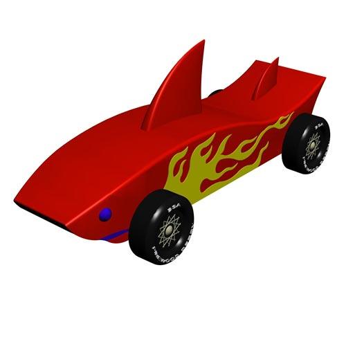 Pinewood Derby Car Design Plan - Shark