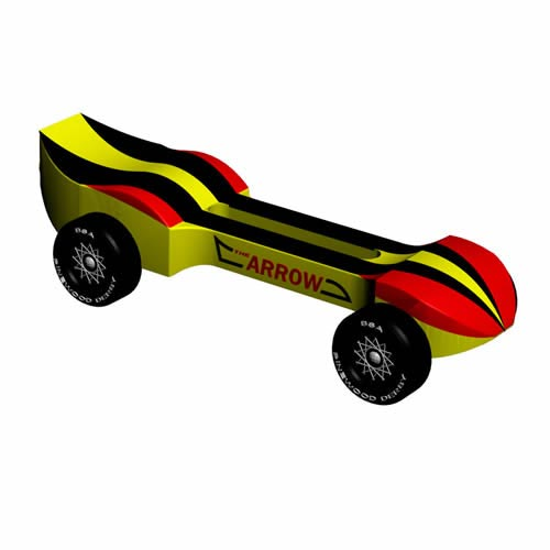Pinewood Derby Car Design Plan - Arrow