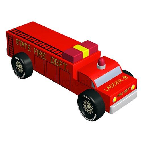 Pinewood Derby Car Design Plan - Fire Engine Truck