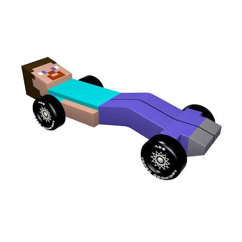 Pinewood Derby Car Design Plan - Minecraft