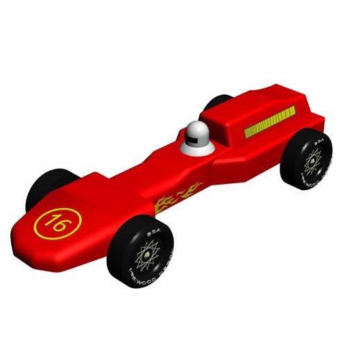 Pinewood Derby Car Design Plan - Grand Prix