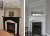 Pt 3: Fireplace Makeover Before & After - Pink Little ...