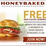 Honeybaked Rewards Club, Free Yummy With Sign Up