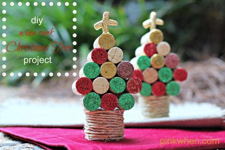 Wine cork christmas tree craft
