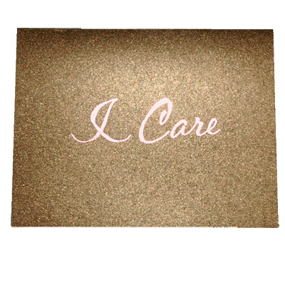 I Care Pink Ribbon Note Card
