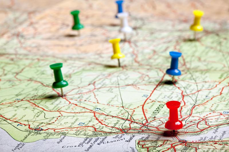 Pinterest Place Pins - Pinnacle Internet Marketing - pins on a map