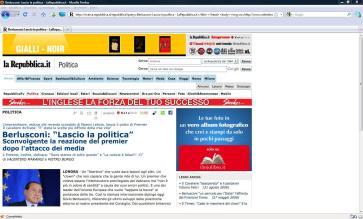 La falsa notizia sulle dimissioni del Premier publica su Repubblica on line dal giovane informatico Valentino Marangi