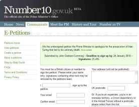 La petizione on line sul sito del Primo ministro britannico