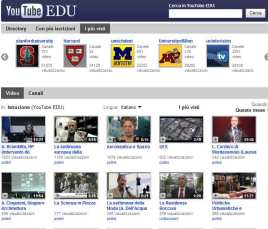 Il canale Educational di YouTube