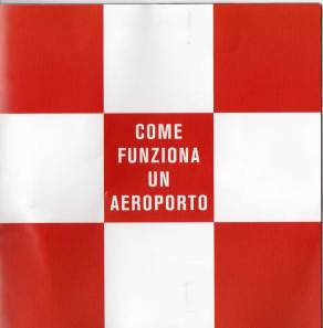 L'opuscolo distribuito ai passeggeri dell'aeroporto Leonardo da Vinci di Roma Fiumicino