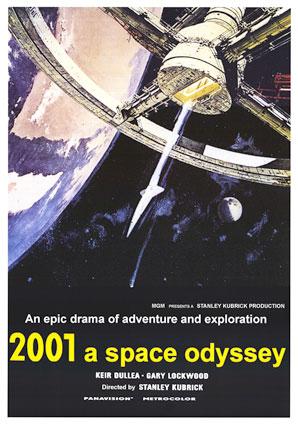 Il poster realizzato da Robert McCall per il film di Kubrick 2001 Odissea nello spazio