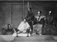 Ricostruizione di un suicidio rituale giapponese (1897). Fonte: Wikipedia