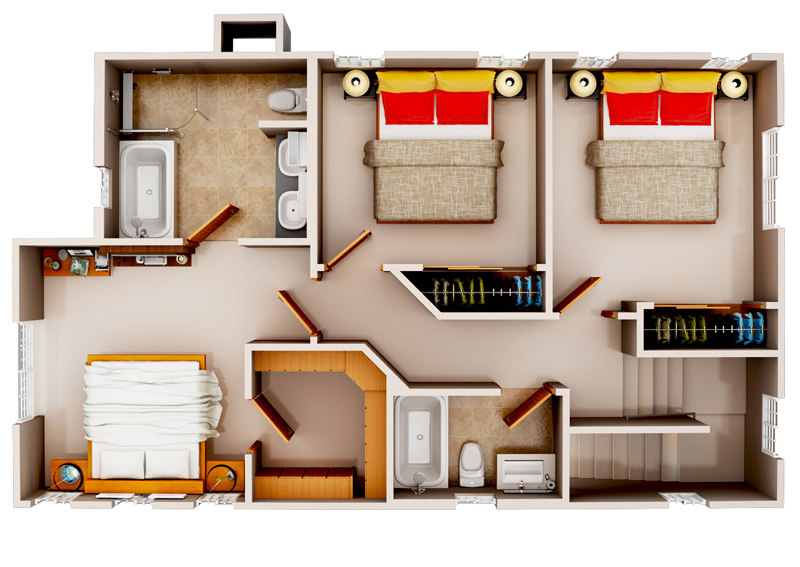 3d Floor Duplex House Plan Joy Studio Design Gallery