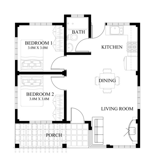 Small house design series shd 2014008 pinoy eplans Floor plan design for small houses