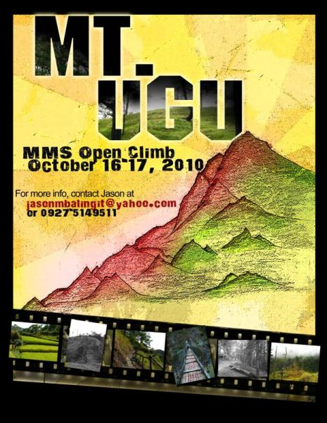MT UGU Open Climb Poster 2010