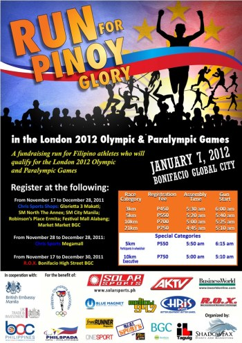 free race kits for run for pinoy glory