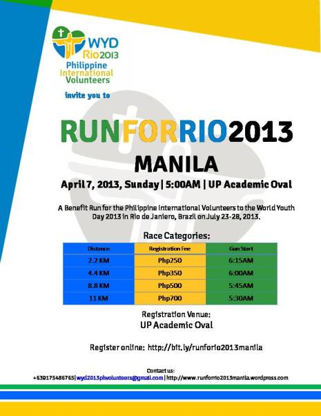 RunForRio2013 Poster