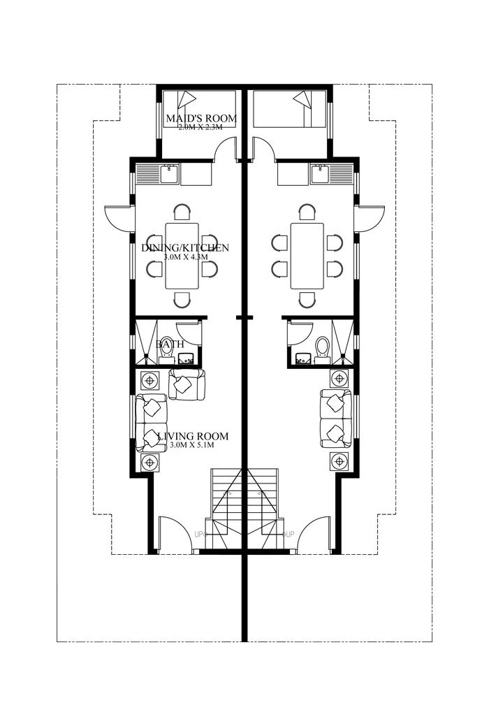 duplex floorplans