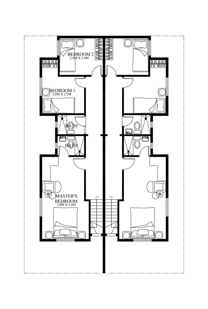 Duplex House Plans Series Php 2014006