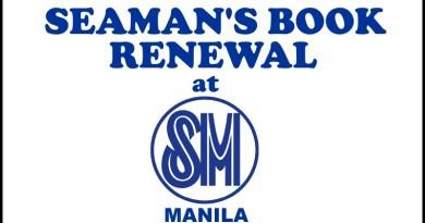 Seaman's Book Renewal At SM Manila