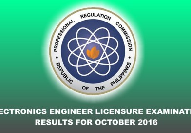 Electronics Engineer Licensure Examination Results (October 2016)