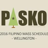 2016 Christmas Season Filipino Mass Schedule (Wellington)