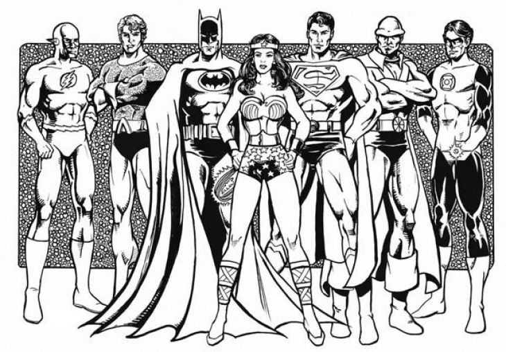 Justice League Coloring Pages To Print - Costumepartyrun