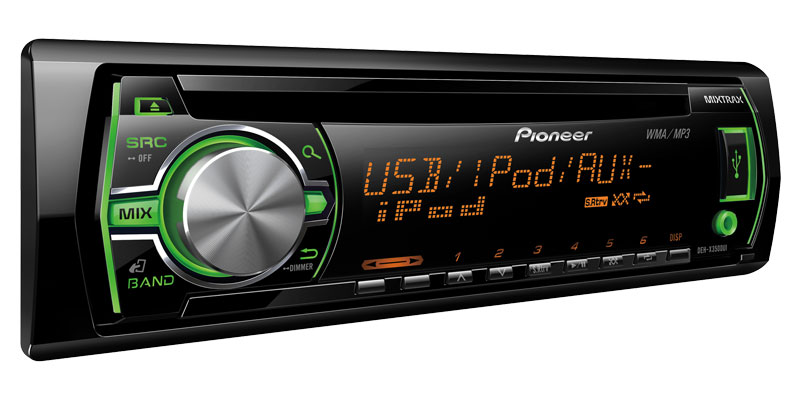 DEH-X3500UI - CD Receiver with MIXTRAX™, USB Control for iPod
