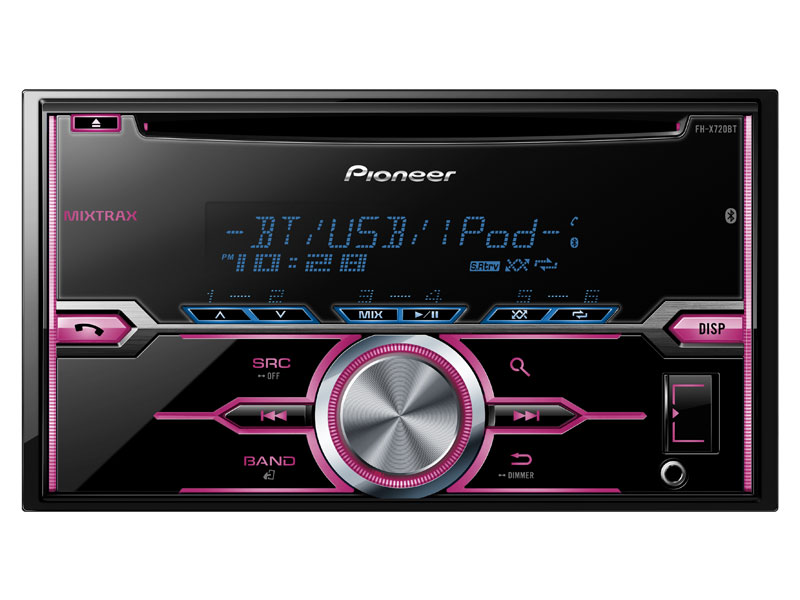 FH-X720BT - 2-DIN CD Receiver with MIXTRAX®, Bluetooth®, Siri® Eyes