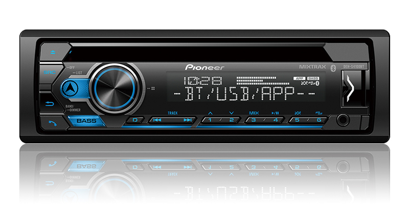 DEH-S4100BT - CD Receiver with Improved Pioneer Smart Sync App