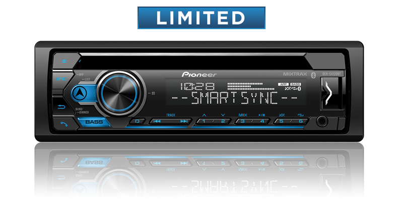 DEH-S4120BT - CD Receiver with Improved Pioneer Smart Sync App