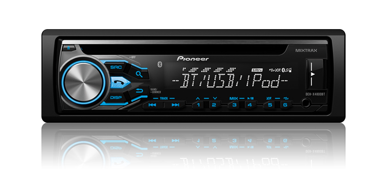 DEH-X4800BT - CD Receiver with MIXTRAX®, Bluetooth®, Siri® Eyes Free